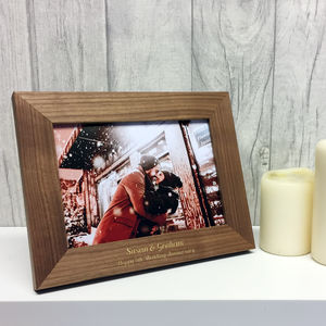 Personalised Wood 5th Wedding Anniversary Photo Frame