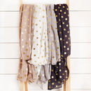 Gold Dot Scarf, Four Colours
