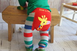 Giraffe Leggings - babies' tops