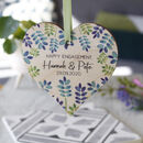 Happy Engagement Wooden Heart Decoration Gift
