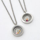 Personalised Secret Message Birthstone Locket Necklace