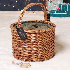 Personalised Barrel Tweed Chiller Picnic Hamper
