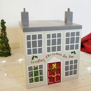 Handmade Luxury Personalised Wooden Christmas Eve Box