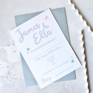Modern Script Wedding Invitation - invitations