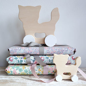Handmade Wooden Elephant, Rabbit Or Cat Toy - gifts: under £25