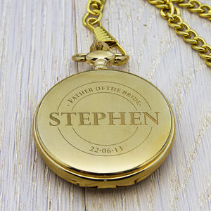 Personalised Wedding Party Pocket Watch - men's accessories