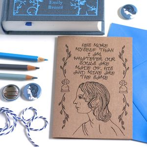 Emily Bronte Greetings Card