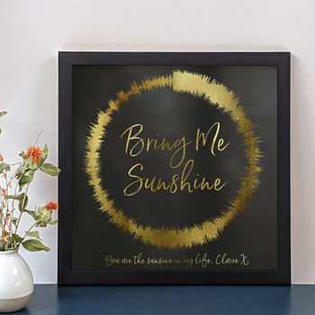 Personalised 'Any Song' Sound Wave Loop Print