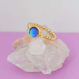 Bermuda Blue Stone Ring - rings