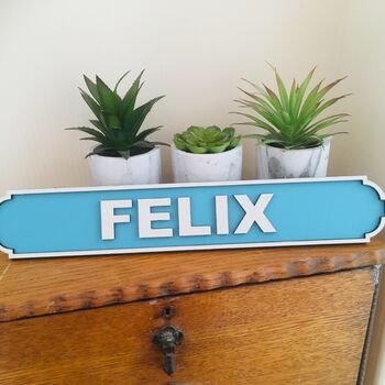 Personalised Children's Room Name Road Sign
