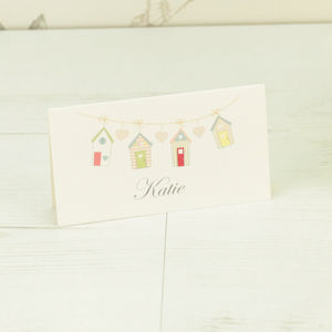 Beach Hut Name Place Card - place cards