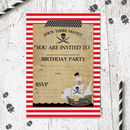 Pirate Birthday Party Invitations Pack Of 20
