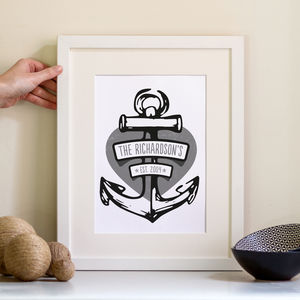 Family Anchor Print Personalised