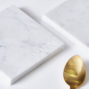 Personalised Square Marble Coaster - kitchen