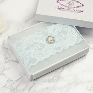 Something Blue Bridal Garter - women's fashion