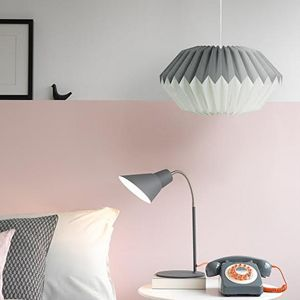 Paper Origami Lamp Shade In Dove Grey