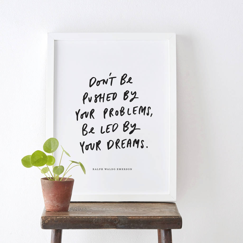 Led By Your Dreams Typography Print by Old English Company