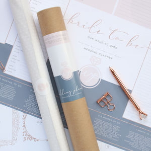 Bride To Be A2 Wedding Wall Planner - planners & records