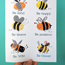 Personalised Bee You Print - blue wording