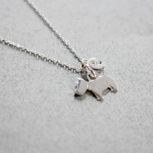Sterling Silver Personalised Dog Pendant