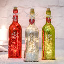 Christmas Sparkle Light Bottle With Snowflake Design
