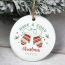 Personalised Couples Christmas Ceramic Decoration