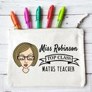 Personalised Top Class Teacher Pencil Case For Her