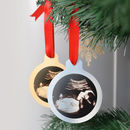 Personalised Gold Or Silver Baby Scan Christmas Bauble