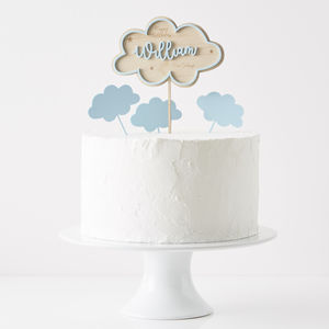 Personalised Clouds Birthday Cake Topper - children's birthday