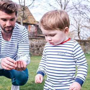 Personalised Daddy And Me Breton Tops - best father's day gifts