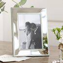 Polished Nickel Beaded Edge Photo Frame