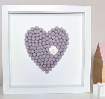 Personalised Heart Framed Artwork