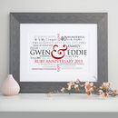Personalised Ruby Wedding Word Art
