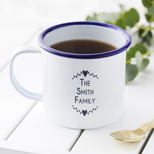 The Family Personalised Enamel Mug - mugs