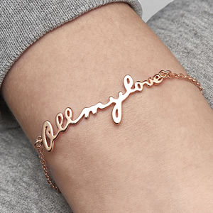 Personalised All My Love Bracelet - wedding jewellery