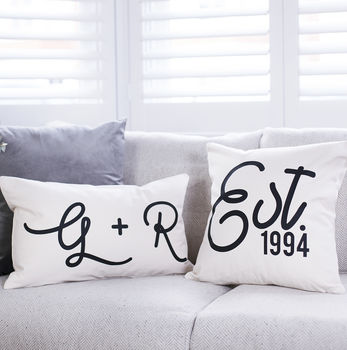 Personalised Couple's Cushion Set