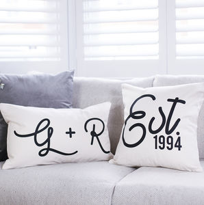 Personalised Couple's Cushion Set - valentine's gifts for him