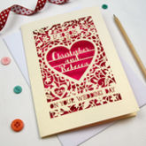 Personalised Papercut 'On Your Wedding Day' Card - cards