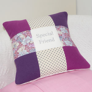 Special Friend Cushion Pink And Purple