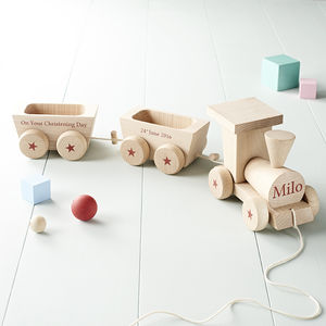 Personalised Wooden Train Set - personalised gifts for babies