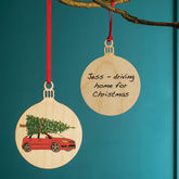 Your Car Personalised Bauble - christmas decorations