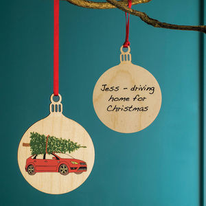 Your Car Personalised Bauble - finishing touches
