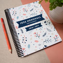 Personalised Combined Coil Bound Diary And Notebook
