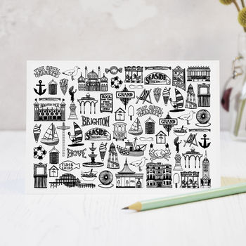 Illustrated Brighton Mix Greeting Card