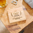 Personalised Dad Beer Coaster
