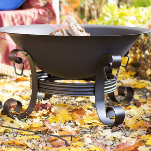 Classic Black Cast Iron Firepit - fire pits & outdoor heating
