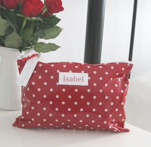 Personalised Spot Make Up Bag - make-up & wash bags