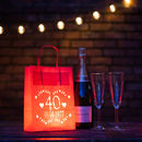 Ruby Wedding 40 Years Anniversary Lantern Personalised