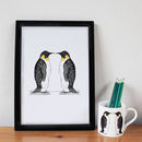 Penguin Love Wedding Anniversary Print