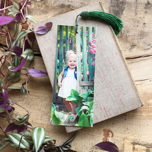 Personalised Cherished Photo Leather Bookmark